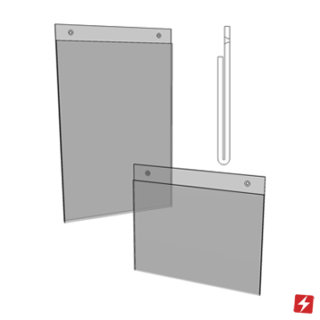 Wall Mounted Extended Top Card Holder