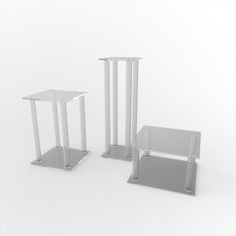 Square Flat Pack Tube Pedestals