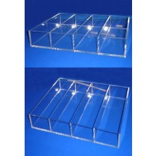 Clear Acrylic 4 Section Tray