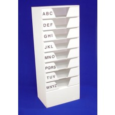 Foamex Alphabetical Drawers