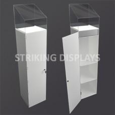 Illuminated Pedestal Cabinet With Case