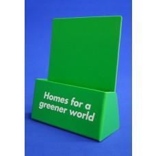 Green Styrene Leaflet Dispenser