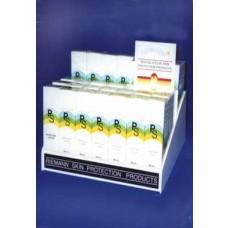 White Acrylic Suncream Display