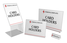 Card holders striking displays stocking a wide range of acrylic show cardholders information holders menu holders stands also name reheart Image collections