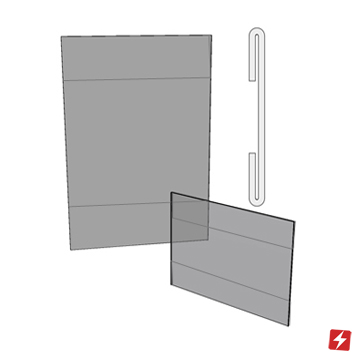 Wall Mount C Bend Card Holder