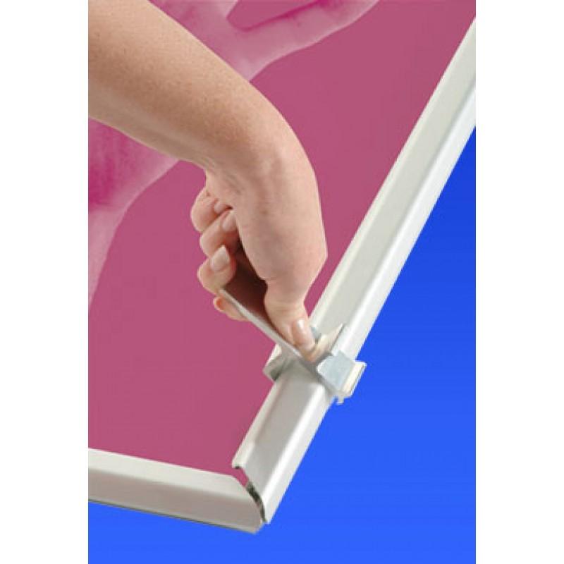 Grip Frame Secure 32mm Clip Frames Aluminium Clip Grip Frames