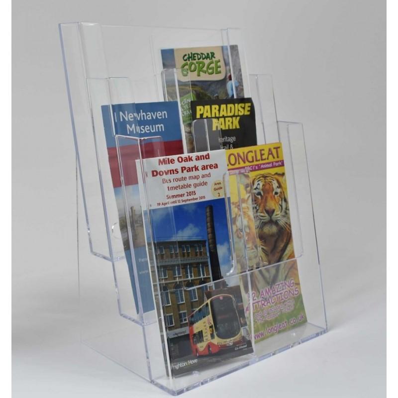 Freestanding A4 3 Tier Portrait Leaflet Dispenser