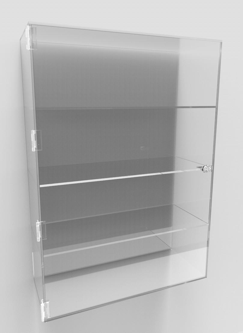Acrylic Display Cabinet 700 X 500 X 200 Fixed Shelving