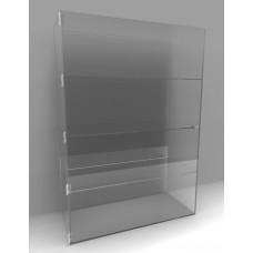 Acrylic Display Cabinet 1000 x 700 x 300 Fixed Shelving