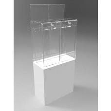 Pedestalled Pivot Door Collector - 2 Section