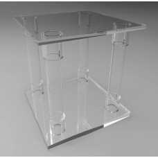 300mm Square Flat Pack Acrylic Tube Pedestals 300mm High