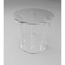 300mmØ Round Flat Pack Acrylic Tube Pedestals 300mm High