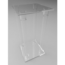 300mm Square Flat Pack Acrylic Tube Pedestals 600mm High