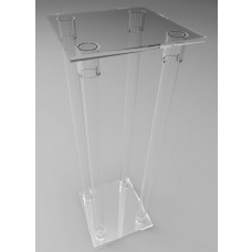 300mm Square Flat Pack Acrylic Tube Pedestals 900mm High
