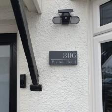 Chic Rectangular Acrylic House Nameplate
