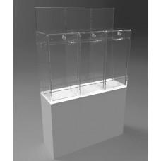 Pedestalled Pivot Door Collector - 3 Section