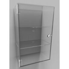 Acrylic Display Cabinet 400 x 250 x 150 Fixed Shelving