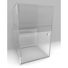Acrylic Display Cabinet 400 x 250² Fixed Shelving