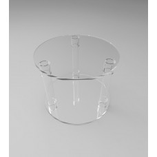 400mmØ Round Flat Pack Acrylic Tube Pedestals 300mm High