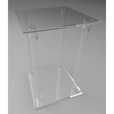 400mm Square Flat Pack Acrylic Tube Pedestals 600mm High