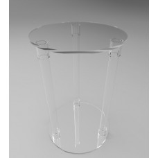 400mmØ Round Flat Pack Acrylic Tube Pedestals 600mm High