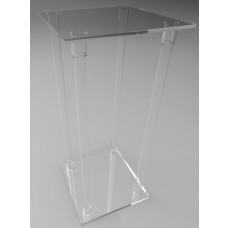 400mm Square Flat Pack Acrylic Tube Pedestals 900mm High
