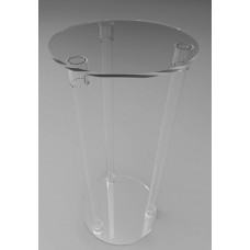 400mmØ Round Flat Pack Acrylic Tube Pedestals 900mm High