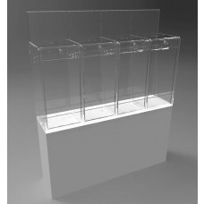Pedestalled Pivot Door Collector - 4 Section