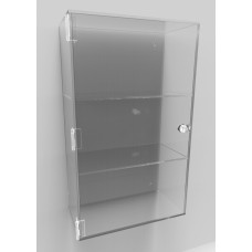 Acrylic Display Cabinet 500 x 300 x 150 Fixed Shelving