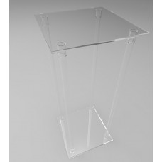 500mm Square Flat Pack Acrylic Tube Pedestals 1200mm High