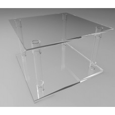 500mm Square Flat Pack Acrylic Tube Pedestals 300mm High
