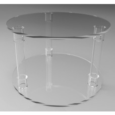 500mmØ Round Flat Pack Acrylic Tube Pedestals 300mm High