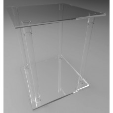 500mm Square Flat Pack Acrylic Tube Pedestals 600mm High