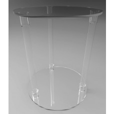 500mmØ Round Flat Pack Acrylic Tube Pedestals 600mm High