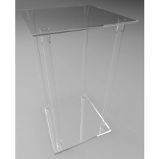 500mm Square Flat Pack Acrylic Tube Pedestals 900mm High