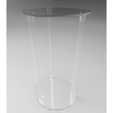 500mmØ Round Flat Pack Acrylic Tube Pedestals 900mm High