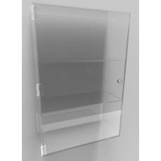 Acrylic Display Cabinet 600 x 400 x 175 Fixed Shelving
