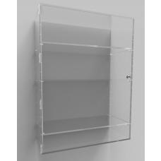 Acrylic Display Cabinet 800 x 600 x 250 Adjustable Shelving