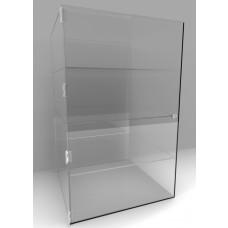 Acrylic Display Cabinet 800 x 600 x 250 Fixed Shelving