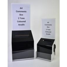 Comments Box 2 Tone Coloured Acrylic