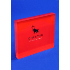 Printed Acrylic Block Red & Black
