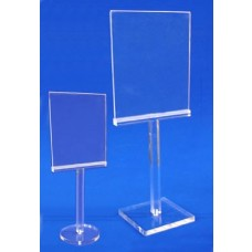 Clear Acrylic Card Holder & Stand