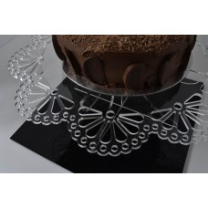 Flat Packed Clear Acrylic Cake Stand Large