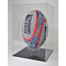Acrylic Display Case Rugby Ball Portrait