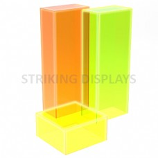 Fluorescent Acrylic Pedestals