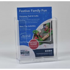 Wall Mounted A6 Portrait Leaflet Dispenser