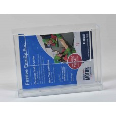 Wall Mounted A6 Landscape Leaflet Dispenser