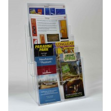 Freestanding A4 4 Tier Portrait Leaflet Dispenser