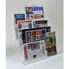 Freestanding A4  4 Tier Landscape Leaflet Dispenser