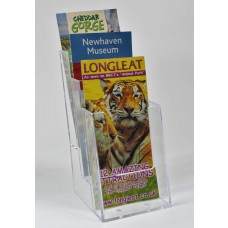 Freestanding DL 3 Tier Portrait Leaflet Dispenser
